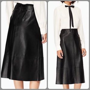 🎁KATE SPADE - A Line Lamb Leather Skirt🎁